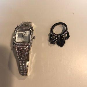 Betsey Johnson ring and watch